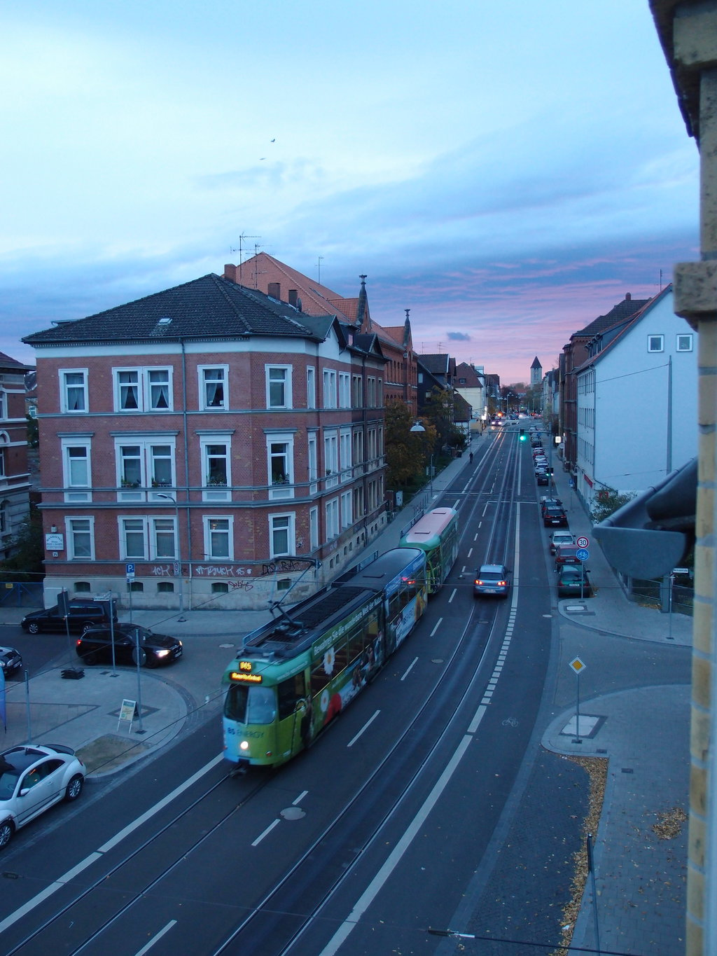 Tram Leonhardstraße at Dawn